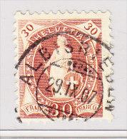 Heimat ZH ALBISRIEDEN 29.9.1907 Vollstempel Auf 30Rp Stehende Helvetia #88 - 1882-1906 Wappen, Stehende Helvetia & UPU