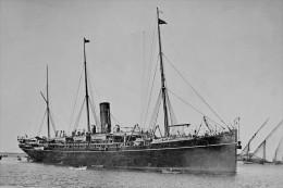 PENINSULAR P & O Line At Port Melbourne Australia 1900 Modern Digital Postcard - Steamers