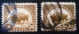 LE BISON 1922 - OBLITERES - YT 244 - MI 281A - VARIETES DE COULEURS ET D'OBLITERATIONS - Used Stamps