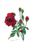 DESSIN CRAYON PASTEL ROSE 66 - Other Collections