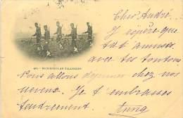 A-16 4626 : BICYCLISTES EN ECLAIREURS  CARTE PRECURSEUR MILITAIRE VELO POSTEE DE VERSAILLES 1899 - Militares