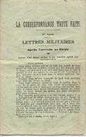 "MILITARIA -  LETTRES MLITAIRES  -  ""  La Correspondance Toute Faite ""  - - Documents"