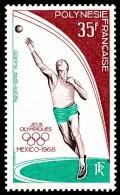 POLYNESIE 1968 - Yv. PA 26 ** TB  Cote= 20,00 EUR - Jeux Olympiques De Mexico ..Réf.POL22794 - Poste Aérienne