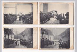 4 Cpa Politique COUVENT GRANDE CHARTREUSE Expulsion Peres Chartreux Séparation église état Avril 1903 Ph Michel - Evènements