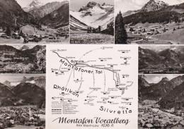 Austria--Montafon Vorarlberg--Vandans-Partenen-Gargellen-Schruns-Tschagguns-Gaschurn Piz Buin - Mapas