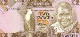 ZAMBIE   2 Kwacha  Non Daté (1980-1988)   Pick 24c  Signature 7    ***** BILLET  NEUF ***** - Zambia