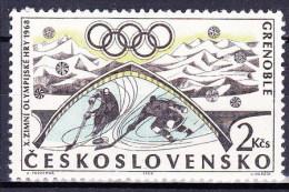 ** Tchécoslovaquie 1968 Mi 1766 (Yv 1618) Avec Varieté, Position 19/2, (MNH) - Variétés Et Curiosités