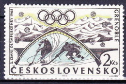 ** Tchécoslovaquie 1968 Mi 1766 (Yv 1618) Avec Varieté, Position 19/2, (MNH) - Errors, Freaks & Oddities (EFO)