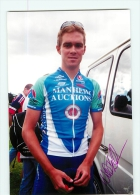 William FRISCHKORN, Autographe Manuscrit, Dédicace. Lire Descriptif. Cyclisme. 2 Scans. Manhem Auctions - Ciclismo