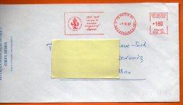 75 PARIS  INTERCONTINENTAL 100 ANS DE TRADITION   1982 Lettre Entière 110x220 N° EMA 1539 - Marcophilie (Lettres)