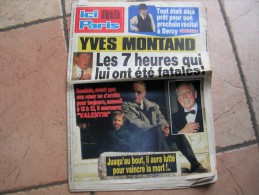 ICI PARIS  N° 2419 - YVES MONTAND / MADONNA / JOHNNY HALLYDAY  -  1991 - Musica