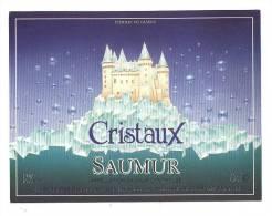 Etiquettes De Vin Saumur  -  Cristaux   -   Chatelain Desjacques à St Hilaire St Florent  (49) - Castles