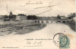 89 GUILLON   Vue Du Pont Sur Le Serein - Guillon