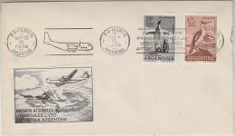 Argentina 1970 Primer Aterrizaje Hercules C-130 Antartida Argentina Cover  (label Hercules) (27614) - Polar Flights