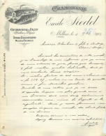 FACTURE Thème Cuir ,tannerie , Corroirie émile SIEDEL  à Millau Aveyron 1904 - France