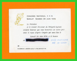 Quatre Documents Assemblée.Générale. FFR. Sarlat 24 Juin 1979..(rectos Verso) - Rugby