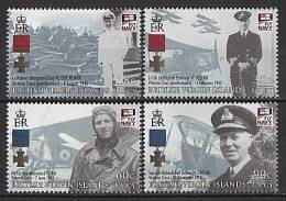 British Virgin Islands 2009 - Medals, Early Planes, Fly Navy - 4v Neufs // Mnh - British Virgin Islands