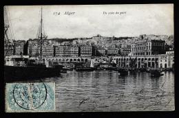A3801) France Alger Algier Karte Mit Vorderseitigen Briefmarken 15.10.1906 - Briefe U. Dokumente