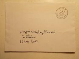 Lettre Enveloppe Cachet Obliteration - CREST 27/12/1985 PP (47) - Marcophilie (Lettres)