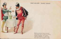 CPA Publicité Publicitaire Art Nouveau Non Circulé Saint GALMIER Source BADOIT - Advertising