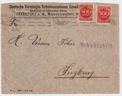 "DR. 1923, Fernbrief, Selt. Mef , Mi. 60,-  "" Frankfurt/Main ""  , #5261 - Briefe U. Dokumente"