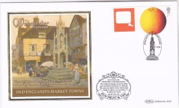 2006 Winchester GB FDC ORANGE Fruit SPECIAL SILK  Illus WINCHESTER HIGH CROSS Cover  Stamps - Fruits