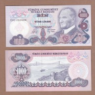 AC - TURKEY 6th EMISSION 1000 TL E UNCIRCULATED - Turquie
