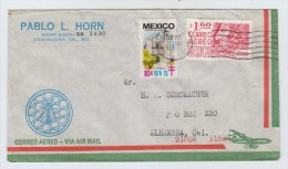 Mexico/USA HONEYBEES BEES AIRMAIL COVER 1976 - Honeybees