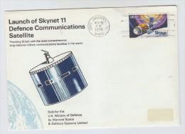 USA SKYNET 11 SATELLITE SPACE COVER 1974 - Ruimtevaart