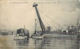 CHALON SUR SAONE - Chantiers Schneider Et Cie, Port Des Submersibles.(carte Vendue En L'état) - Guerre