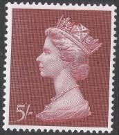 Great Britain. 1969 QEII. Machin High Value. 5/- MH. SG 788 - Machins
