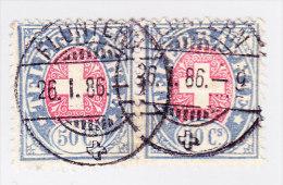 Heimat ZH FLUNTERN 26.1.1886 Auf Waagrechtes Paar Telegraphe 1881 #16 - Télégraphe