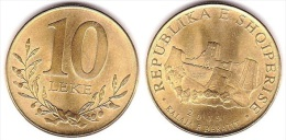 Albania Coin 10 Leke, 2009. Berat Fortress Castle. BU, UNC Or FDC - Albanie