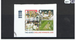 GB 2005 Ashes Miniature Sheet USED On Piece - Used Stamps