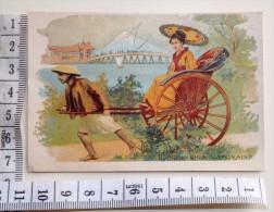 Chromo Fin 19° / La Belle Jardiniere Lyon / Pousse-pousse Japonais Femme Ombrelle Japon - Other