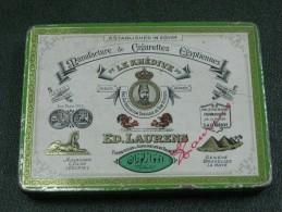 AC - LE KHEDIVE ED LAURENS TOBACCO TIN TURKISH CIGARETTE EGYPTIENNES - Boites à Tabac Vides