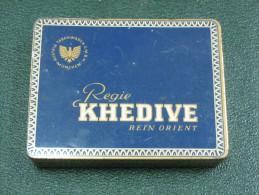 AC - REGIE KHEDIVE REIN ORIENT 20 CIGARETTES EMPTY TIN BOX - Boites à Tabac Vides