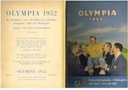 OLYMPICS OLYMPIA OLIMPIADI LES JEUX OLYMPIQUES DE 1952 – OSLO – HELSINKI - Bücher, Zeitschriften, Comics