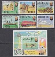 Liberia 1979 Sir Rowland Hill 6v + M/s Used Cto (27622) - Liberia