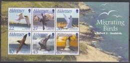 Alderney MiNr. Bl. 14 ** Zugvögel: Seevögel - Alderney