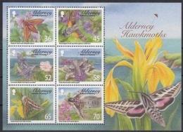 Alderney MiNr. Bl. 28 ** Einheimische Schwärmer - Alderney
