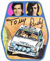 ADESIVO - STICKER - TONY RUDY - OPEL ASCONA 400 - RALLY - Adesivi