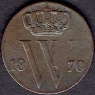 Netherlands,  ½ Cent 1870 - [ 3] 1815-… : Koninkrijk Der Nederlanden