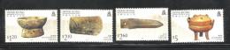 HONG KONG,  HONGKONG, 1996, Archaeological Discoveries, Finds, History, Set 4 V,  MNH, (**) - Hong Kong (...-1997)