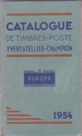 Yvert Et Tellier - Europe Sans France - Champion 1954 - 782 Pages - Francia