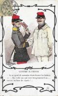 Illustration Guillaume - Lettre D'Amour - Le Sergent De Semaine Distribuant Les Lettres: En Voilà Une Qui Sent... - Humour