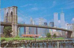 New York      127        New York City.Skyline And Thr Brooklyn Bridge     ( Voir Timbre ) - Ponts & Tunnels