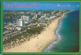 Fort Lauderdale       H121        Fort Lauderdale , Snowing The Famous Beach.....         ( Voir Timbre ) - Fort Lauderdale