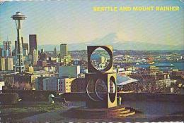 Seattle        H142       Seattle And Mount Rainier     ( Voir Timbre ) - Seattle