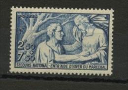FRANCE - POUR LE SECOURS NATIONAL - N° Yvert 498** - France